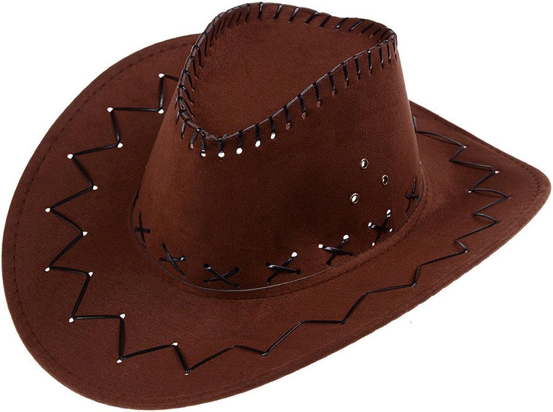 Wulipink 1 Pcs Brown Cowboy Hat Unisex Fancy Dress Costume Hat