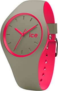 Ice-Watch - Ice Duo Khaki Pink - Women's Wristwatch with Silicon Strap