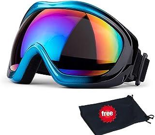 JTENG Gafas de esquí, Snowboard, protección UV, Gafas de