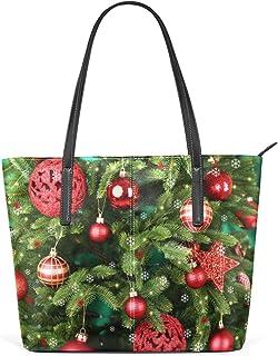 FANTAZIO Handtasche Schulter Weihnachten Vibe Muster Schulter Handtasche
