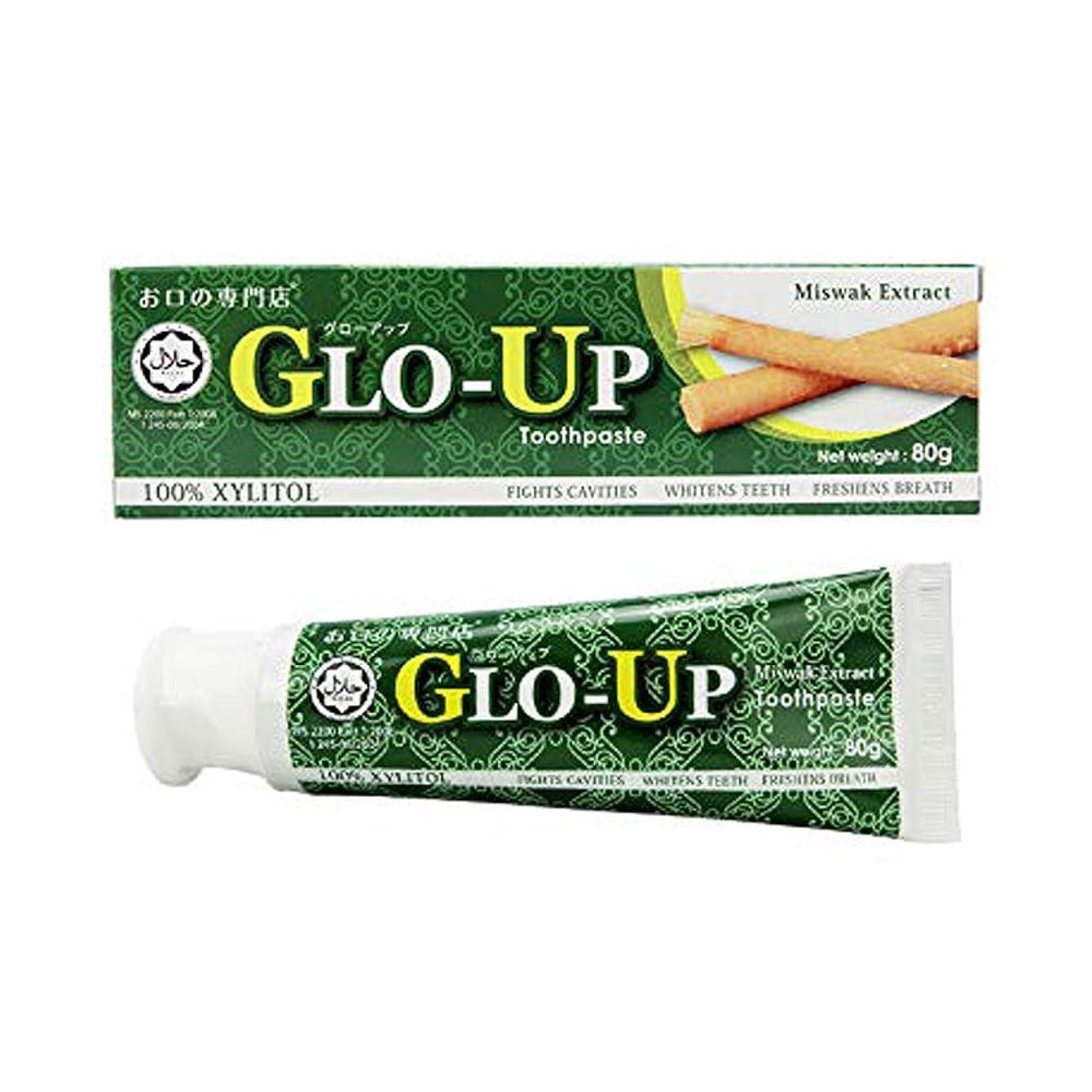 傾く広告する検証【キシリトール100%】お口の専門店 GLO-UP(グローアップ) 歯磨きペースト 80g×1個 【ハラール認証取得歯磨き剤】フッ素無配合 歯科医院取扱品