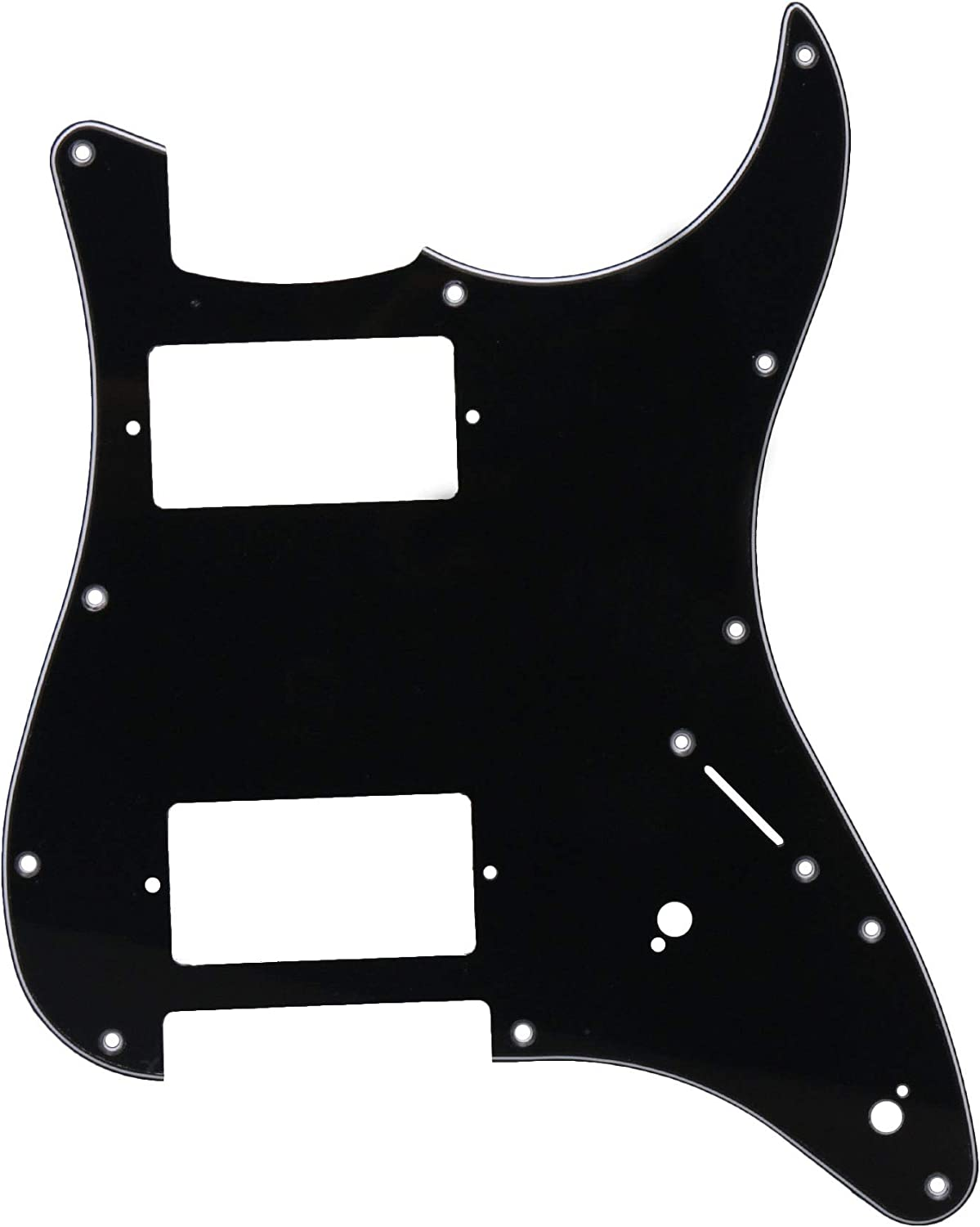 Bstinay Black 3 Ply 11 Challenge the lowest price of Japan ☆ Hole Beauty products Scratchplate Fo Guitar ABS Pickguard