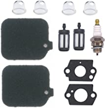NIMTEK 2 Pack Air Filter with Fuel Filter Spark Plug Gasket Primer Bulb Turn up kit for Stihl Blower BG45 BG46 BG55 BG65 BG85 SH55 SH85 BR45C