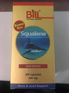 Bill Natural Sources Squalene Skin Health 500mg, 300 Capsules