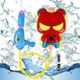 Smileh Pistola de Agua con Mochila Spiderman Pistola de Agua con Mochila 1PCS Spider Man Pistolas de Agua para...