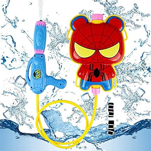 smileh Sac à Dos de Pistolet à Eau Spiderman Sac à Dos de Pistolet à Eau 1PCS Spider Man Pulvérisateur d'eau pour Enfants D'été Amusement de l'eau