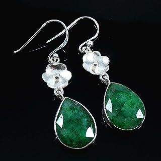 Kanika Jewelry Trove Emerald 925 Sterling Silver Earrings, May Gemstone Earrings