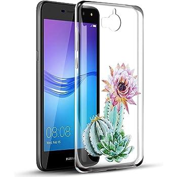 Funda Huawei Y6 2017, Eouine Cárcasa Silicona 3D Transparente con ...