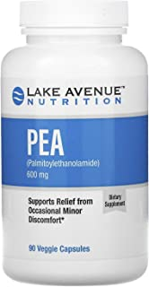 Lake Avenue Nutrition Pea (Palmitoylethanolamide), 600 mg Per Serving, 90 Veggie Capsules