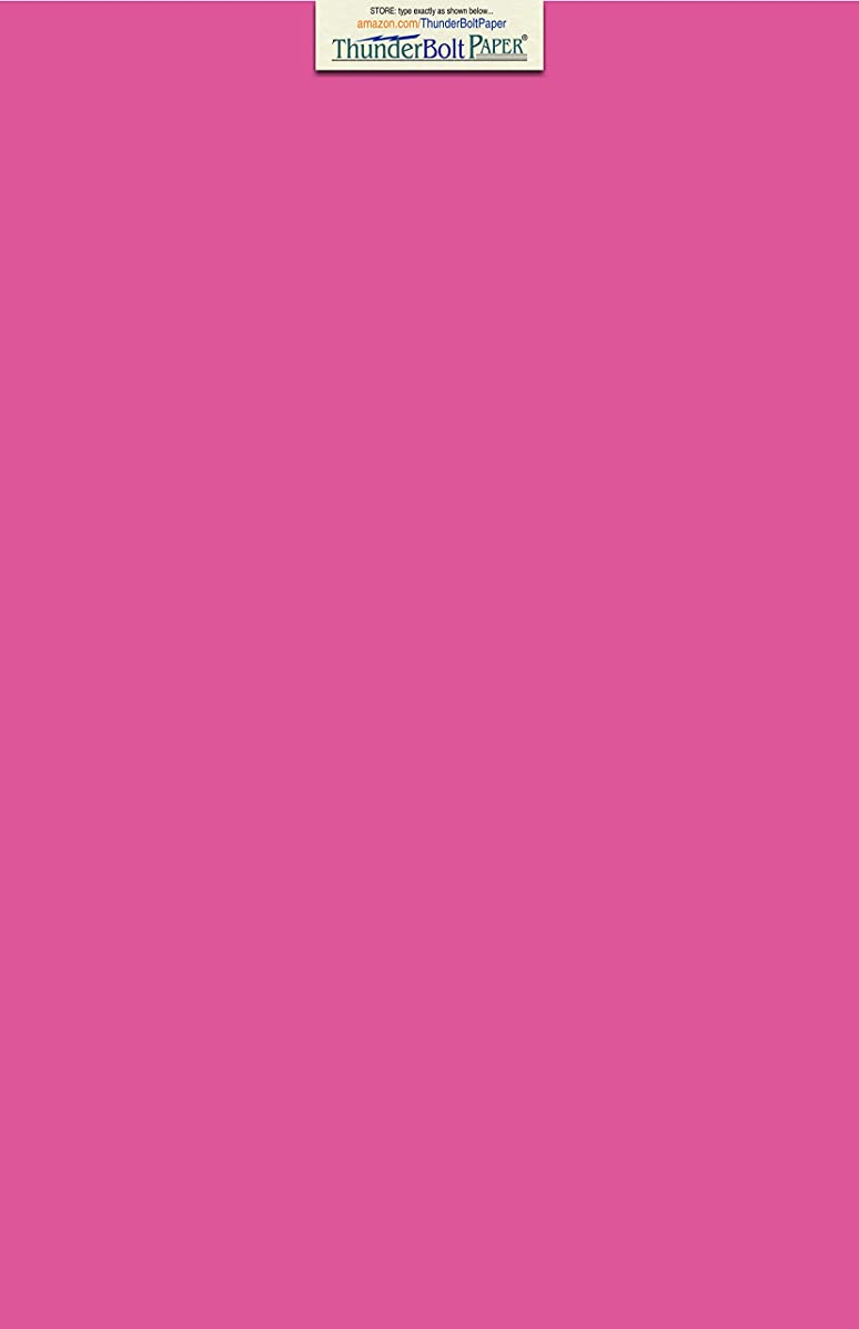 100 Bright Hot Pink 60# Text (=24# Bond) Paper Sheets 11 X 17 Inches Colored Sheets Tabloid or Ledger Size - 60 Pound is Not Card Weight - Quality Smooth Paper Surface