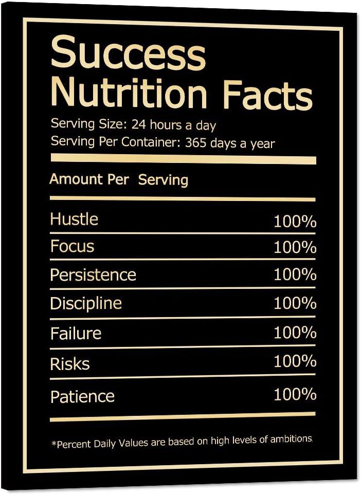 Inspirational Wall Art High quality Success Pain Facts Motivational shop Nutrition