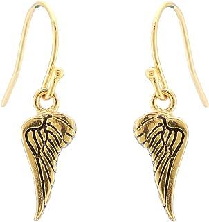 Erica Anenberg 22K Gold Angel Wing Dangle Earrings for Women - Wing Earrings - Gold Dangle Earrings