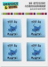 GRAPHICS & MORE You Da Manta Ray Cool Man Funny Humor Computer Case Modding Badge Emblem Resin-Topped 1