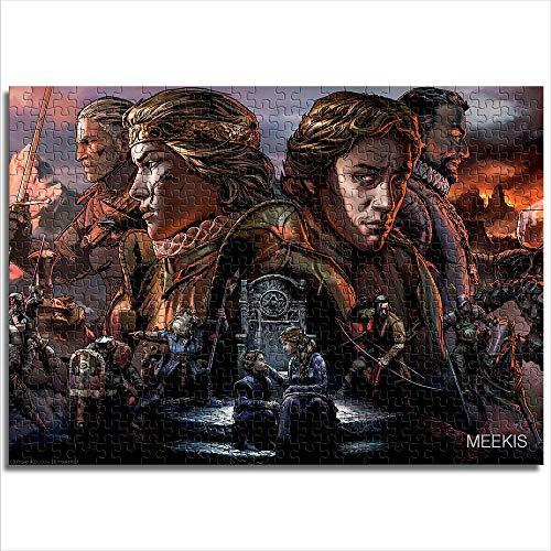 yuhho Adult Jigsaw Puzzle 1000 Thronebreaker Wizard Story-Spiel Geschenke für Liebhaber oder Freunde 38x52