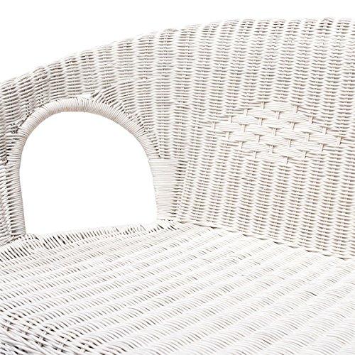 Rattanmöbel-Set Chris – 4-teilig (Rattansessel, Rattansofa, Tisch) – Weiß - 2