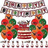 TRRY Decoraciones de Fiesta cumpleaños, Suministros para fiestas de cumpleañospara Bing Bunny Cumpleaños Fiestas Decoración Happy Birthday Banner Balloon, 30pcs