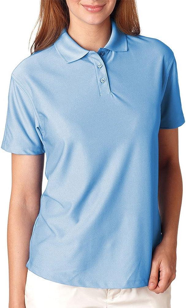 UltraClub Ladies' Cool & Dry Elite Performance Polo Shirt, Columbia Blue, XS