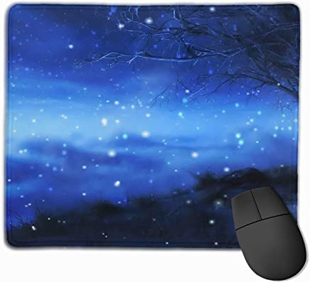 Non-Slip Mouse Pad Rectangle Rubber Mousepad Xams Fairy Night Print Gaming Mouse Pad