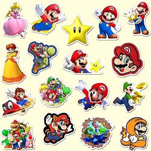 50 Pcs/set lovely Anime Super Mario Stickers for Skateboard Laptop Luggage Fridge Phone Doodle Waterproof Car Sticker