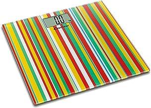 GPWDSN Balances de Cuisine, balances électroniques numériques 150 kg Motif de Rayures de Couleur Ultra-Mince pesant Le Cad...