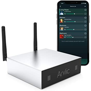 WiFi & Bluetooth Home Amplifier STA326 WIith 50+50W 24V DC/2.0 Stereo Channel,Airplay DLNA,Multiroom/multizone Sync, 24bit 192 kHz HiFi Audio Streaming Integrated for Speakers.Arylic Up2stream A50