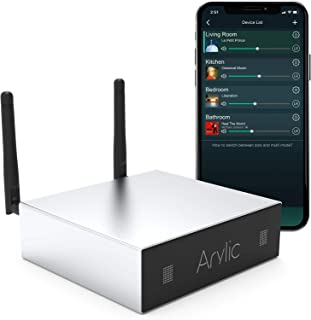 Arylic WiFi & Bluetooth Home Amplifier,STA326 with 50+50W 24V DC/2.0 Stereo Channel,Airplay 1 DLNA,Multiroom/multizone Syn...