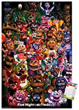 Trends International Five Nights at Freddy's - Ultimate Group Wall Poster, 22.375' x 34', Poster & Mount Bundle