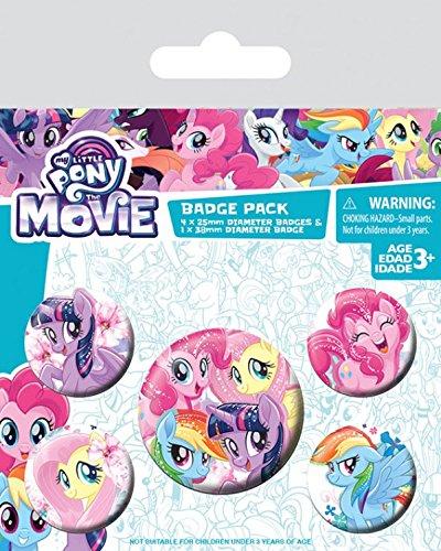 1art1 My Little Pony - Movie, Friendship Blooms, 1 X 38mm & 4 X 25mm Chapas Set De Chapas (15 x 10cm)