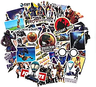 Party Stickers USA 46pcs Gaming Stickers For Battle Royale Gamer Themed Party