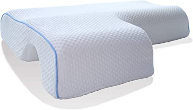 Memory Foam Pillow for Sleeping, Arched Cuddle Cervical Pillow for Neck Pain Relief, Bed Couples Side Sleeper Pillows for ...