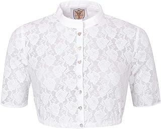Apple of my eye Damen Trachten-Mode Dirndlbluse Vroni in Weiß traditionell