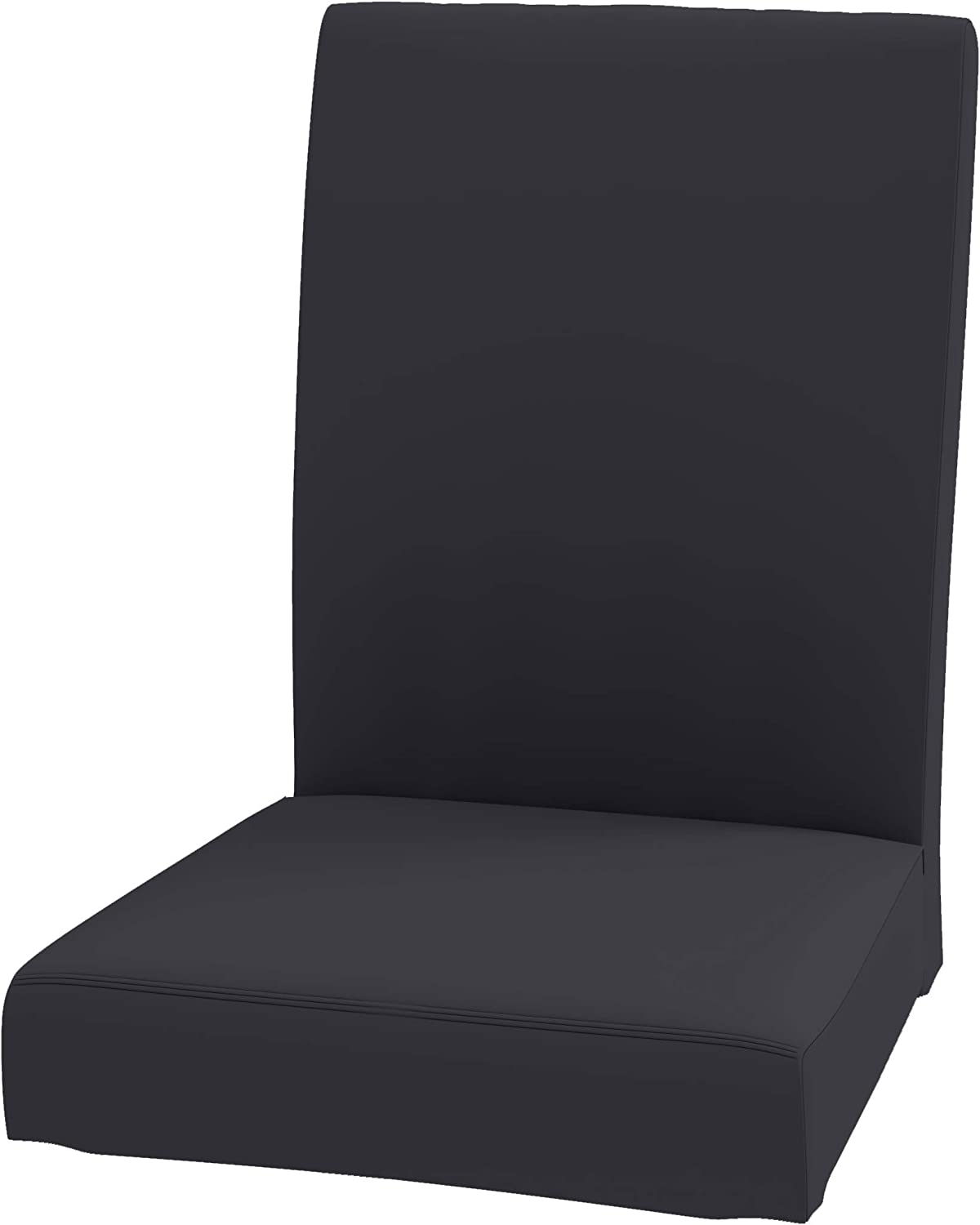 """The Durable Henriksdal Chair Cover Width: 21.2"""" Replacement is Custom Made for IKEA Dining Chair Cover Or Slipcover (Polyester Flax Dark Gray)"""