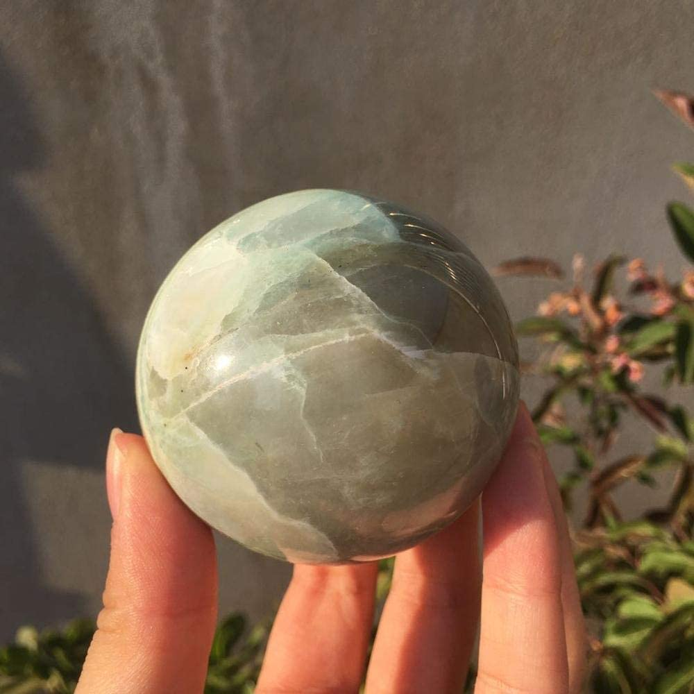 Decor Stone Natural Green Cash special price Moonstone Gemsto Cheap mail order specialty store Sphere Crystal Quartz