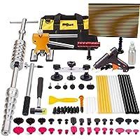 Mookis 77PCS Dent Repair Tools, Dent Extracción Kit Car Dent Extractor auto Kit de Reparación Herramienta de Automóvil para Eliminar las Abolladuras de Coche, Moto, Lavaladora