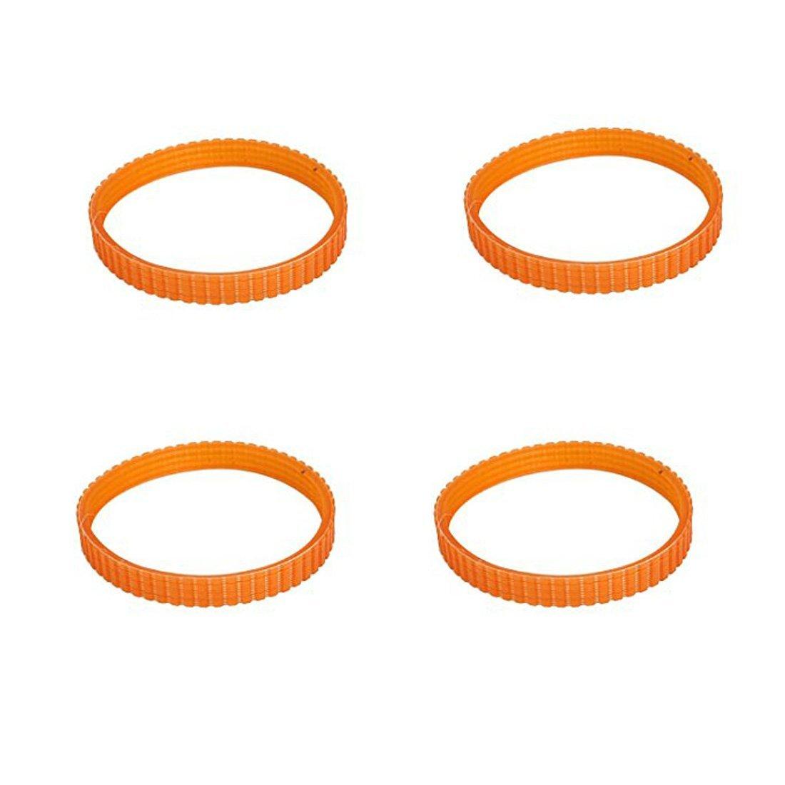 XMHF Electric Planer store Product Drive Orange PU 10mm Width Belt Band 4Pcs