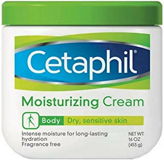 Cetaphil Moisturizing Cream for Dry/Sensitive Skin, Fragrance Free 16 oz (Pack of 2)