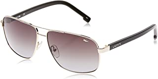 Lacoste Rectangular Petit Pique Gold Sunglasses For Men 61-13-140mm