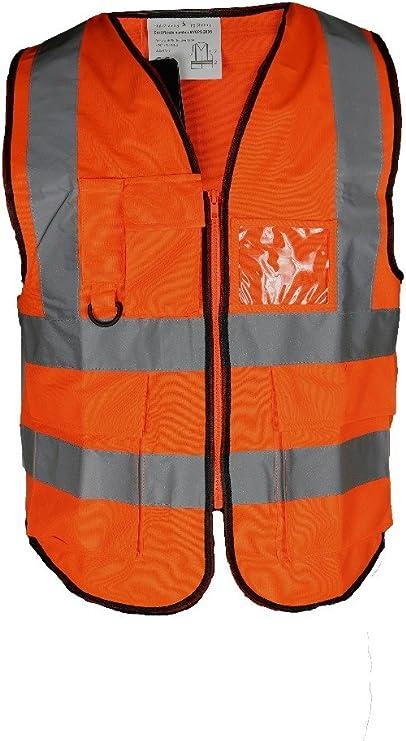Details about  /Hi Viz Vis High Visibility Jacket Zip Hoodies Sweatshirts Safety Vests Work Top