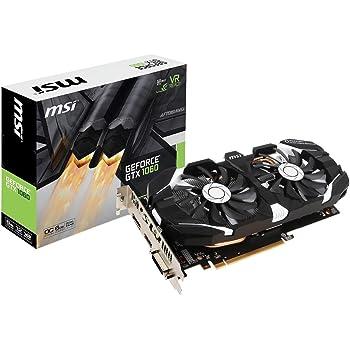 GTX 1060 AERO ITX 6G OC MSI GAMING GeForce GTX 1060 6GB GDRR5 192-bit HDCP Support DirectX 12 Single Fan VR Ready ITX OC Graphics Card Renewed