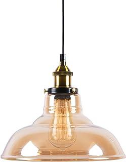 Huahan Haituo Industrialny Edison Styl Vintage 1-Lekki Wisiorek Szklane Wiszące Światło Kuchnia Wyspa Jadalnia Oświetlenie...