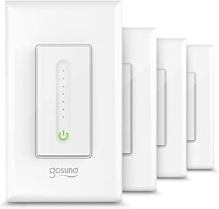 Gosund Smart Dimmer Switch, WiFi Smart Light Switch Work with Alexa and Google Home, 4 Pack, Single-Pole, Remote Control, No Hub Required, ETL and FCC Listed