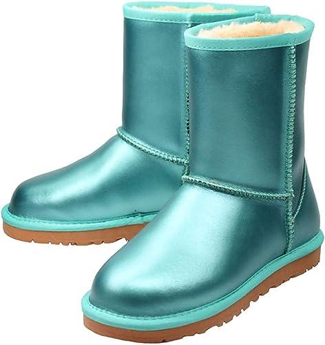 ZHRUI Stiefel de esquí de Las señoras a Prueba de Agua (Farbe   2, tamaño   38EU)