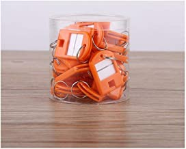 Nummerringgesp, kleurenetiketkaart, plastic sleuteletiket, sleutelsortering-Oranje