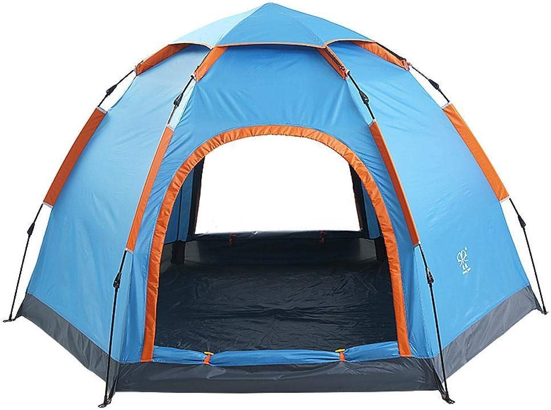Mzl 6-Punkt-Outdoor Campingzelt einstöckig einstöckig einstöckig Zwei-Türer Schnellöffnungszelt (240 x 240 x 140 cm) B07HM3V95Z  Hohe Qualität und Wirtschaftlichkeit 891ed1