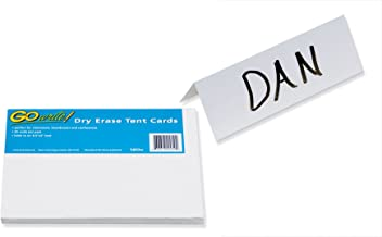 GoWrite! Dry Erase Tent Cards, 8.5