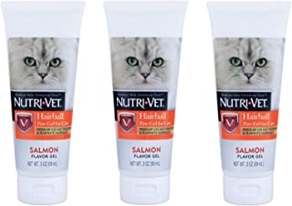Nutri-Vet 3 Pack of Hairball Paw-Gel for Cats, 3 Ounces Each, Salmon Flavor