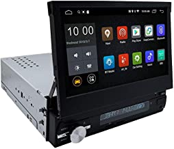 YODY Android 9.0 Single Din Car Stereo 7 Inch Touch Screen Flip Out Car Radio Support..