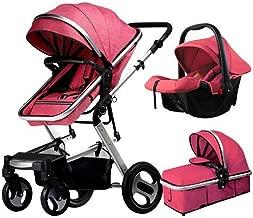 Baby Stroller Can Sit Reclining High Landscape Shock Absorbers Lightweight Folding Children's Trolley,Blush