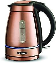 BELLA 14753 Electric Tea Kettle, 1.7 LITER, Copper Chrome