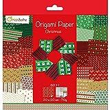 Avenue Mandarine 52508O Carta Origami Natale, Multicolore, 20 x 20 cm